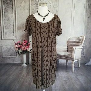 EnFocus Women's Dress Brown Plus Size 18W or 20W